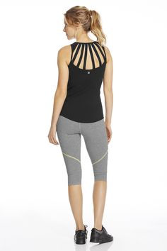 Be a trailblazer by bringing style to your hiking gear. Rock a durable Rayna Crop that features a cool design element and add the Kenyon Tank with moisture-cont