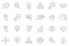 Thin line Business icon set by howcolour on @creativemarket