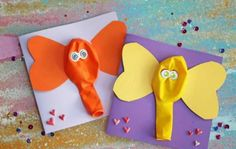 This mixed media Balloon Elephant Card tutorial is the perfect party favor idea for ANY celebration you have in mind this time of year! Zoo Crafts, Glue Crafts, Preschool Crafts, Crafts To Do, Crafts For Kids, Arts And Crafts, Paper Crafts, Easy Art Projects, Projects For Kids