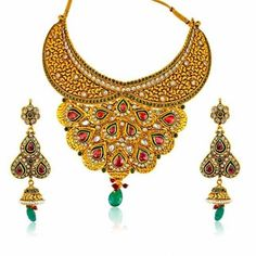 Peacock Design Jodha Akbar Set - Online Shopping for Jewellery Sets by Surat Diamond