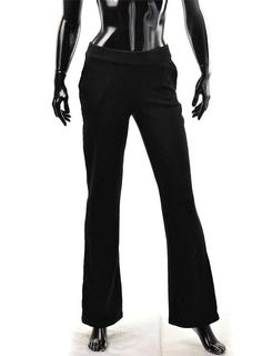 ebay guess outlet nnj0  Armani Exchange Track Pants Womens A/X Glitter Trim Flare Lowrise Size M  Black