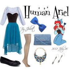 Disney Inspired Outfit Human Ariel From The Little Mermaid Robes Disney, Disney Dresses, Disney Outfits, Cute Outfits, Little Mermaid Costumes, Ariel Costumes, Princess Inspired Outfits, Disney Inspired Fashion, Disneybound Outfits
