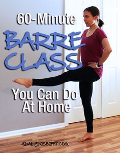 60-Minute Barre Class You Can Do At Home / A Daily Dose of Fit Fitness Workouts, Fitness Diet, At Home Workouts, Fitness Motivation, Health Fitness, Barre Fitness, Planet Fitness, Fitness Plan, Physical Fitness