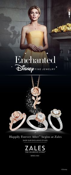 If you believe in romance, dreams and Happily Forever After, you will fall in love with Enchanted Disney Fine Jewelry from Zales.