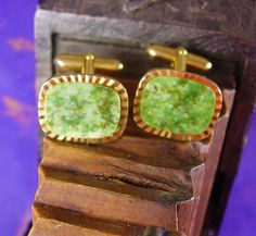 Mystical JADE Oriental cufflinks Virgo Birthstone Symbol of love. These gold filled jade cufflinks not only look classy and elegant but the