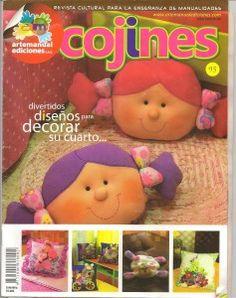 Revista Arte Manual Nº95 especial Cojines. Divertidos diseños para decorar el cuarto de los niños o adultos también...revista completa patrones incluidos