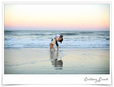 Beach Engagement Photos  Brittany Brock Photography