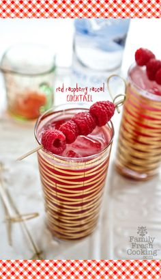 Red Raspberry Rascal Cocktail | recipe on FamilyFreshCooking.com