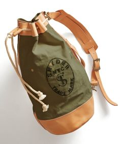 Olive Todd Snyder + Superior Labor Cinched Duffle Bag by Todd Snyder