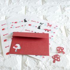 発送しました #letter #letterset #envelope #swan #minne #hedgehog #papercraft #handmade #紙モノ #レターセット #レトロ印刷 #ハンドメイド #ハリネズミ #mushroom #きのこ  #pandafactory