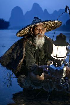 Cormorant Fisherman - Guilin, China