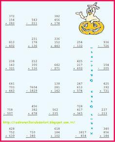 ilkokul ödevleri: 3. sınıf toplama işlemi