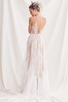 willowby by watters spring 2019 bridal sleeveless sheer strap sweetheart neckline full embellishment romantic a line wedding dress sheer button back sweep train bv -- Willowby by Watters Spring 2019 Wedding Dresses Ethereal Wedding Dress, V Neck Wedding Dress, Perfect Wedding Dress, Boho Wedding Dress, Wedding Gowns, Tulle Wedding, Garden Wedding, Peacock Wedding, Western Wedding Dresses