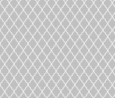 Grey Quatrefoil fabric by vintagegreenlimited on Spoonflower - custom fabric #Spoonflowerwrapper