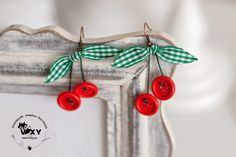 Wall | VK Diy Flowers, Drop Earrings, Blog, Cherry, Jewelry, Buttons, Wall, Accessories, Bijoux