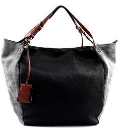 82a3a6c32 Black Leather Tote. Nathalya Freitas · Moda-bolsas