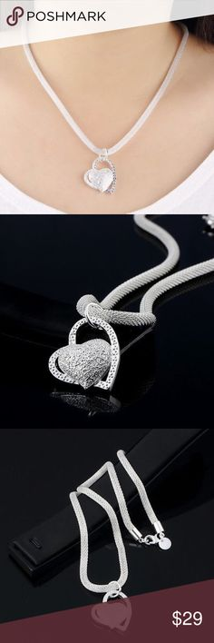 Sterling silver heart necklace Brand new with no tags Jewelry Necklaces