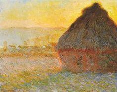 claude monet // haystacks // sunday morning // 1891