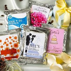 Personalized Bridal Shower Hot Cocoa Favors