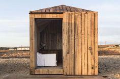 The Cabanas no Rio,  Manuel Aires Mateus - repurposed fisherman huts in Portugal