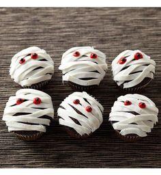 Gâteau d'Halloween : les cupcakes momies