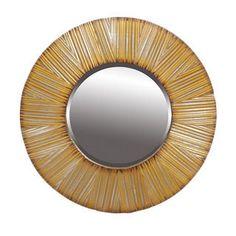 Privilege Silver/Gold Round Beveled Mirror
