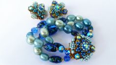 SUPERB VENDOME Foiled Art Glass Baroque Pearls Aurora by EJewelsAU