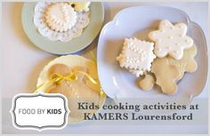 FOOD BY KIDS will present fun biscuit decorating classes for kids years at KAMERS 2012 Lourensford. Contact Martjie Malan to book at. Kids Cooking Activities, 25 November, Cooking With Kids, Handmade Crafts, Biscuits, Presents, Place Card Holders, Decorating, Book