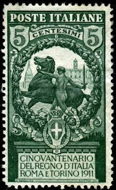 Italy 1911 engraved by Repettati