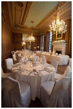 The stunning Ball Room at Gosfield Hall Gosfield Hall, Wedding Venues Essex, Georgian Mansion, Bridal Suite, Reception Rooms, On Your Wedding Day, Elegant Wedding, Table Settings, Table Decorations