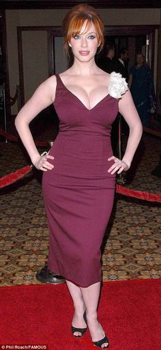 Curves: Ms Hendricks shows off her stunning hourglass figure on the red carpet at an awards show in Los Angeles in January