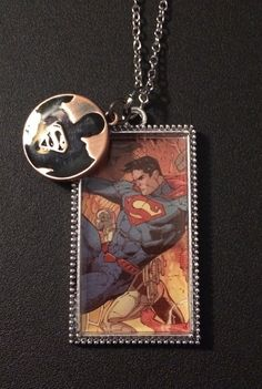 Superman necklace with charm