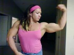 Female body builder web cam