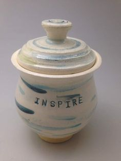 Lidded Jar:  Dream, Create, Inspire