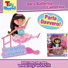 Divertiti anche tu con #Dora l'esploratrice!  Questa fantastica #bambola dai capelli lunghissimi e morbidissimi #snodabile sarà in grado di riprodurre tutti i passi di #danza come la tua #bambina!! Premi sul suo #ciondolo e #Dora Canterà e allo stesso tempo il suo #corsetto si illuminerà!!!! #dora #esploratrice  Link Diretto: http://ift.tt/1sk0Daj #ecommerce #napoli #milano #giocattoli #interattivo #like #likeforlike #pucs #pic #ballerina #suoni #dance #danza #musica #colori #luci #followme…
