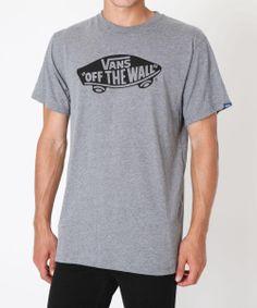 VANS OTW GREY HEATHER/BLACK TEE | Tees | Tees + Singlets | Clothing | Shop Mens | General Pants Online