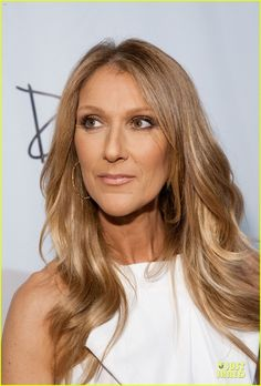 Celine Dion + gorgeous caramel hue hair with blonde highlights. June 2013