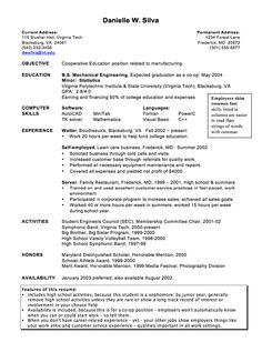 Example Of Cooperative Education Resume - http://exampleresumecv.org/example-of-cooperative-education-resume/