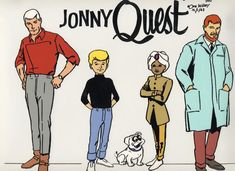 Jonny Quest (1964-1965) I remember watching Jonny Quest when I was 9 years old! I loved his dog Bandit and years later I even named a dog of mine Bandit because he was white with a black mask too!