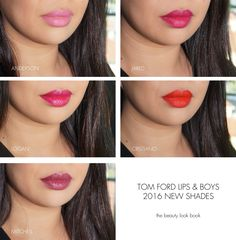 Tom Ford Lips and Boys Anderson, Jared, Logan, Cristiano, Mitchell