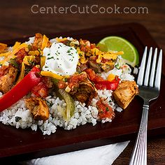 CHIPotle lime CHIckeN BUrrito BOwL. YUMmy ANd as HeaLTHy as you want It.