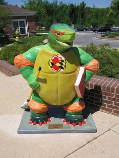 Mutant Ninja Terrapin - Fear the Turtle statue - #UMD #Terps