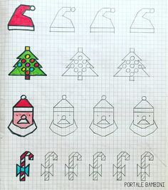 Graph Paper Drawings, Graph Paper Art, Drawing For Kids, Painting For Kids, Loom Patterns, Stitch Patterns, Math Work, School Art Projects, Tapestry Crochet