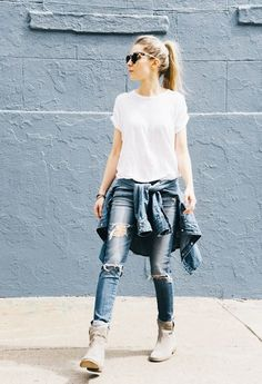 The Best New Boot and Jeans Combinations for Fall via @WhoWhatWear