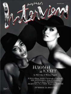 Hat heaven...Kate And Naomi. Interview Russia, December 2012.