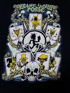 Insane Clown Posse Skull Hactchet Joker Cards Chains Men's T-Shirt Size XL #GraphicTee