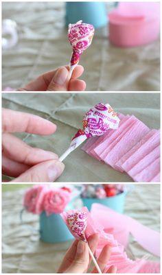 DIY Lollipop Flowers step 3
