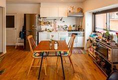 Small Apartment Interior, Small Apartment Design, Kitchen Interior, Japanese Apartment, Coffee Bar Home, Cozy Kitchen, Small Living Rooms, Cool Rooms, Cozy House