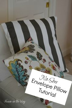 No Sew Envelope Pillow Tutorial from houseontheway.com