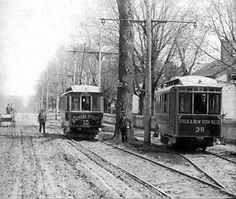 utica historical society | First Trolley to travel from Utica to New York Mills. Circa 1890